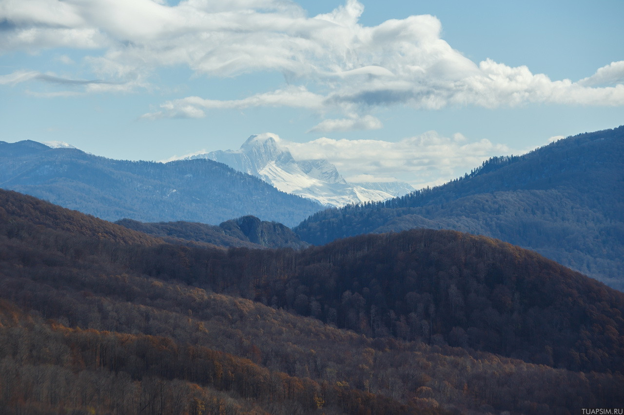 Вид с горы Два Брата Туапсе