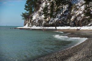 Туапсе Дикий пляж зимой